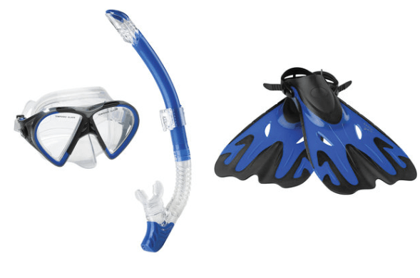 Speedo-Hyperfluid-Mask-Snorkel-Fin-Set
